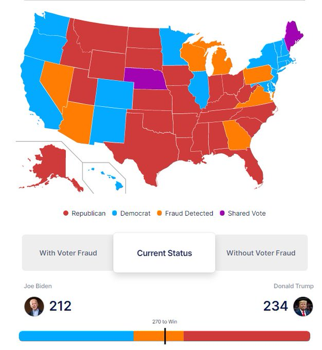 Nice little app to track the counting of the LEGAL votes in the US